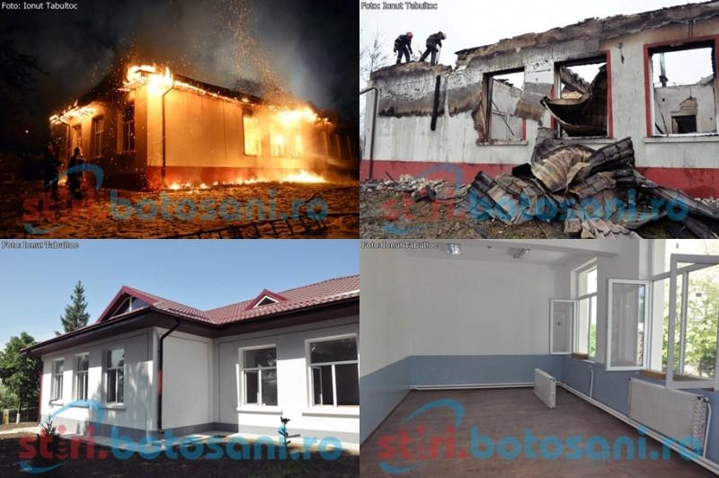 Distrusa de un incendiu puternic, scoala din Rachiti va fi redeschisa! DONEAZA carti pentru biblioteca! GALERIE FOTO
