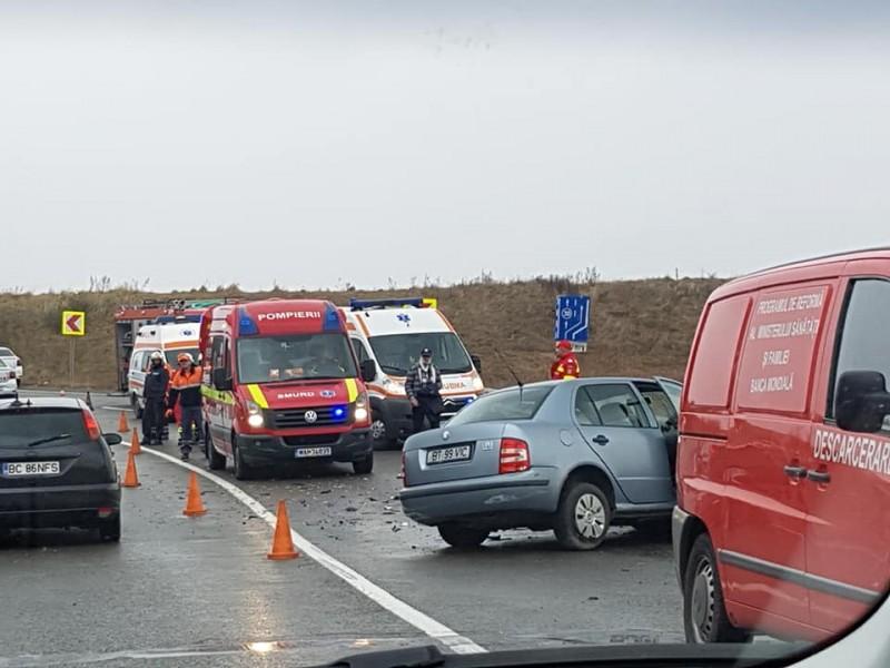 Șapte victime în urma unui accident provocat de un botoșănean! FOTO