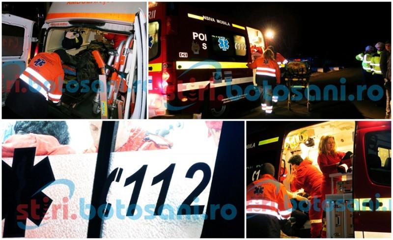 Doi tineri din Corni au fost înjunghiați de un bărbat, în fața unui bar! Una dintre victime a fost băgată în sala de operație! FOTO