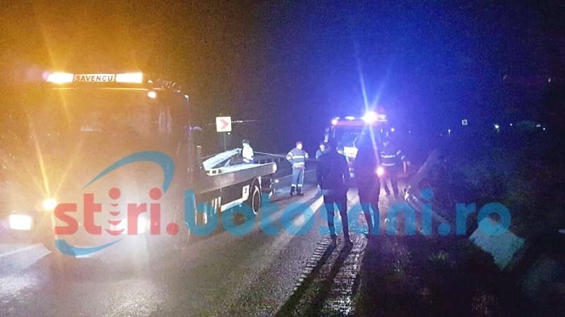 Doi tineri s-au dat peste cap cu mașina, pe drumul Botoșani-Suceava! FOTO, VIDEO