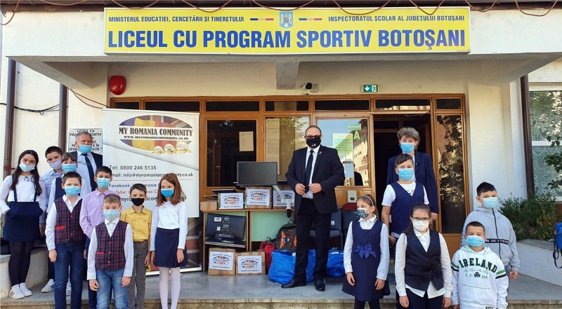 Donație importantă primită de un liceu din Botoșani din partea unei organizații din Marea Britanie