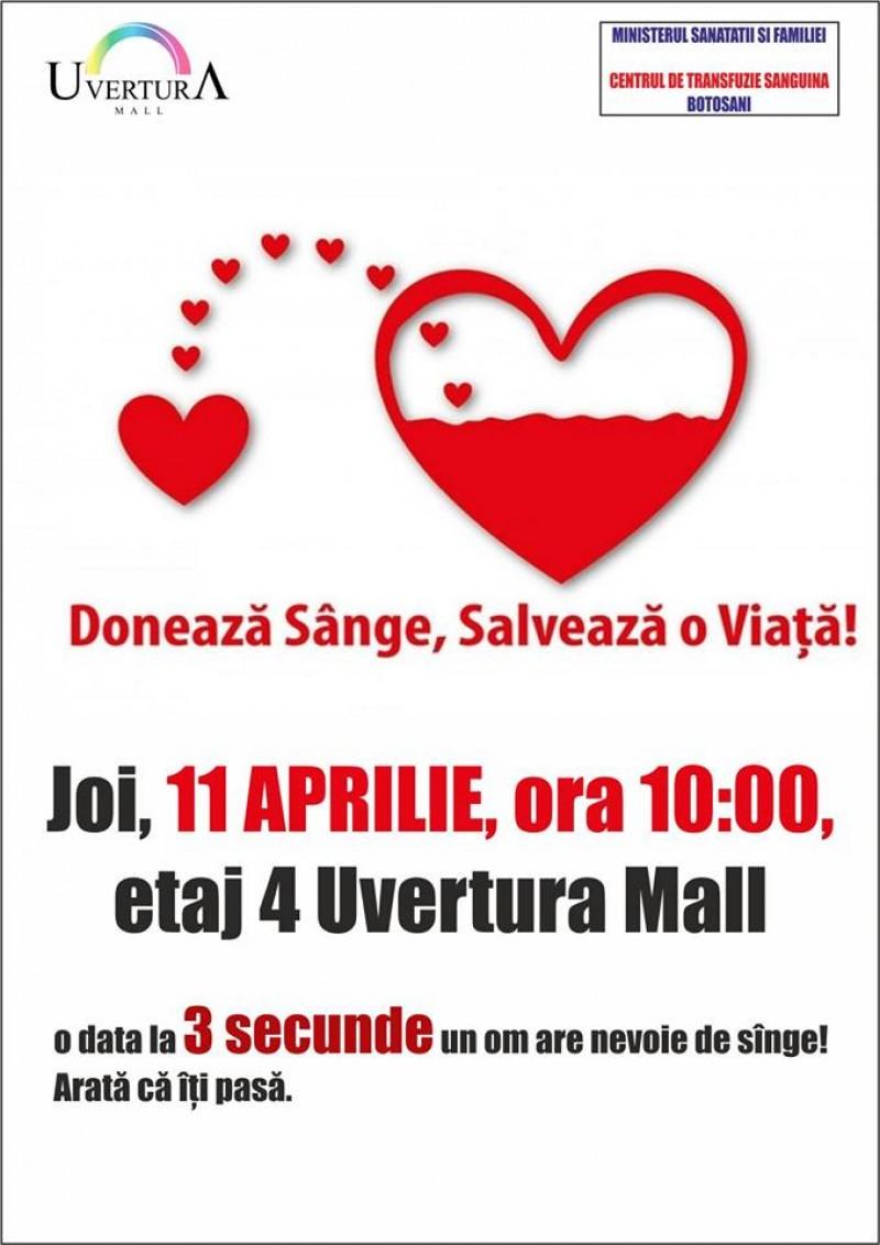 Doneaza sânge, salvează o viață!
