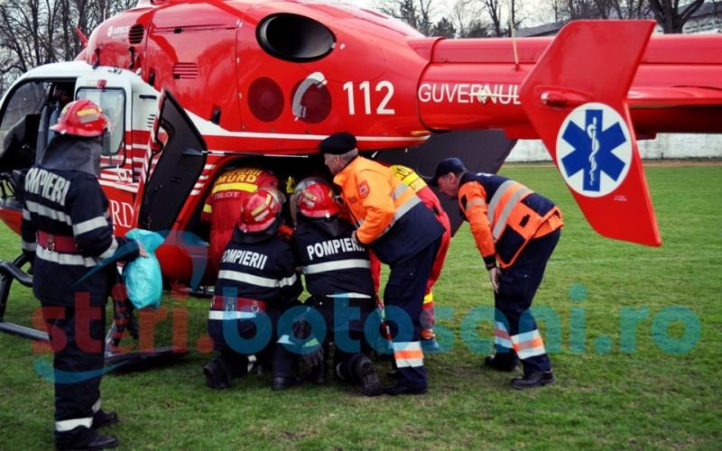 Dorohoian in stare grava, preluat de elicopterul SMURD! FOTO