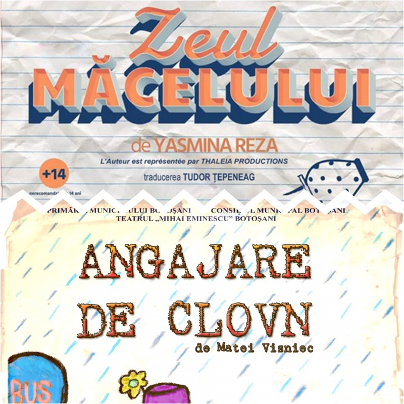 """Două spectacole de excepție repuse în scenă, săptămâna aceasta, de actorii Teatrului """"Mihai Eminescu"""""""