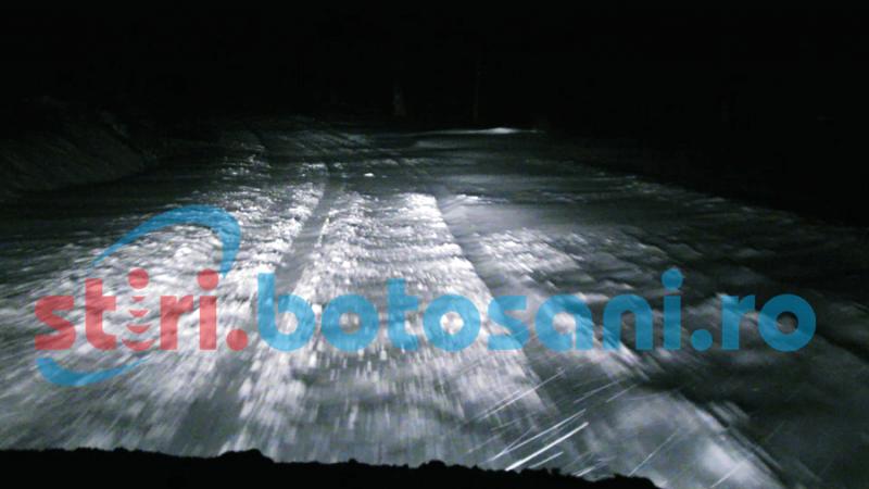 Drum închis în judeţul Botoşani din cauza viscolului!