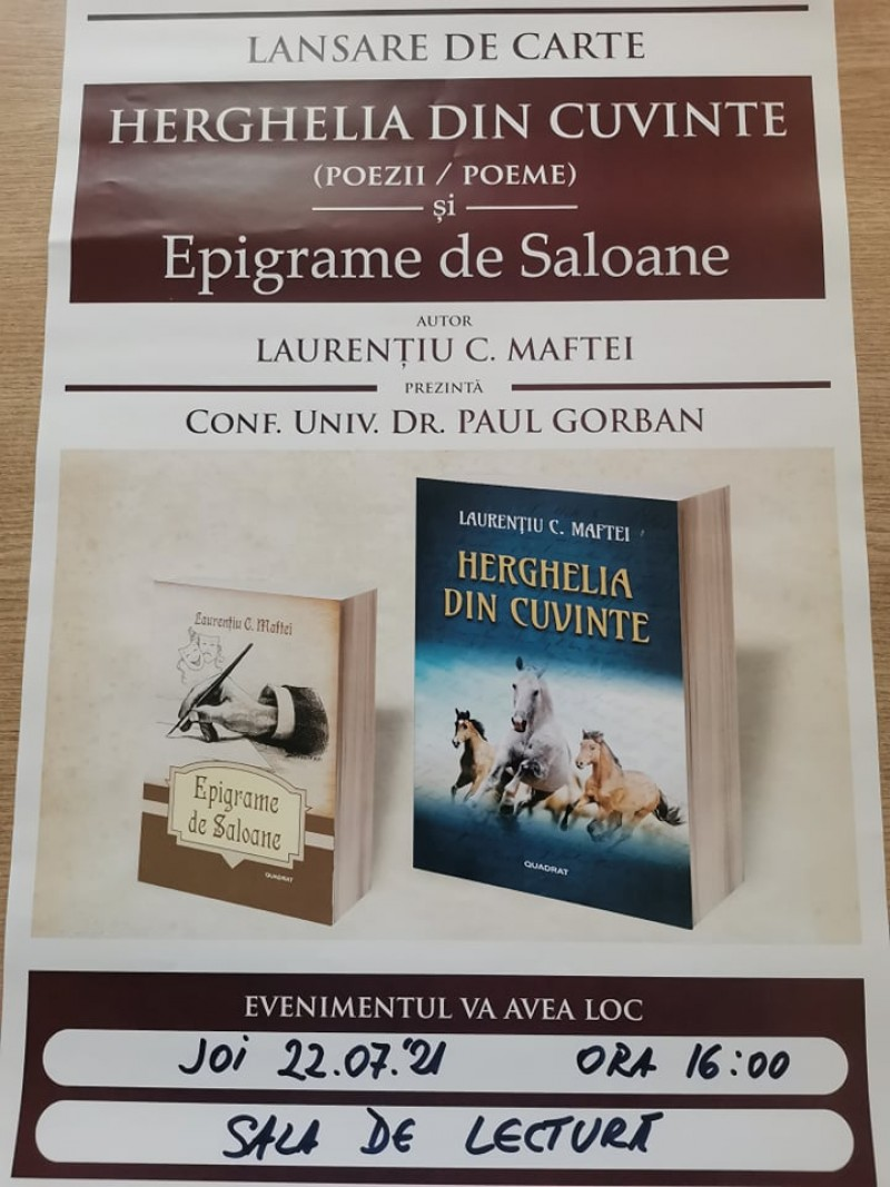 """Dublă lansare de carte, joi, la Biblioteca Județeană """"Mihai Eminescu"""""""