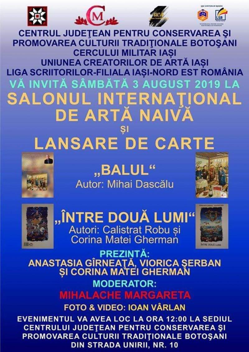 Dublu eveniment pentru iubitorii de artă naivă din Botoșani