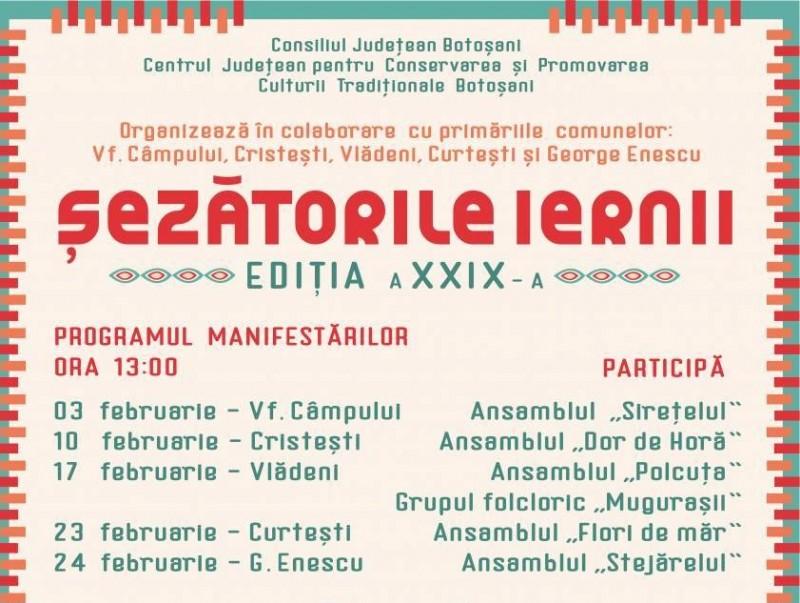 """Duminică debutează a XXIX-a ediție a """"Șezătorilor iernii"""""""