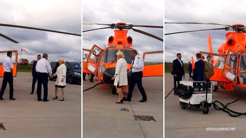 După ce a anulat vizita de astăzi la Botoșani, Dăncilă a luat elicopterul spre Iași