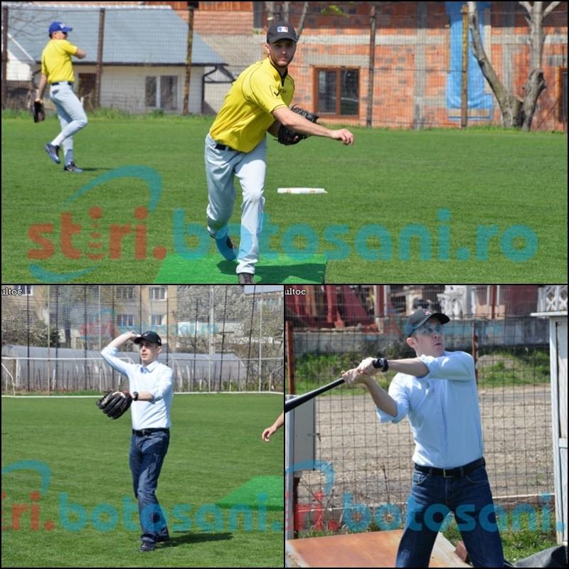 Dupa o pauza de 10 ani s-a jucat primul meci de baseball la Botosani! Portariuc a dat lovitura de start! FOTO, VIDEO
