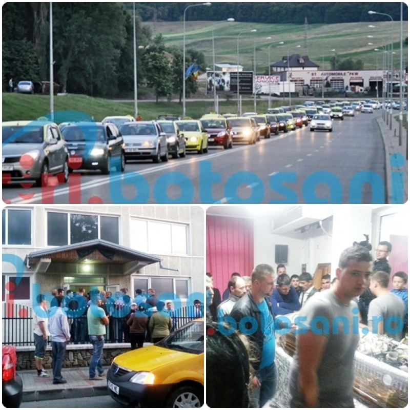 Durere fara margini! Zeci de taximetristi l-au asteptat la intrarea in oras pe tanarul mort in accidentul de la Mures si l-au condus la biserica - FOTO, VIDEO