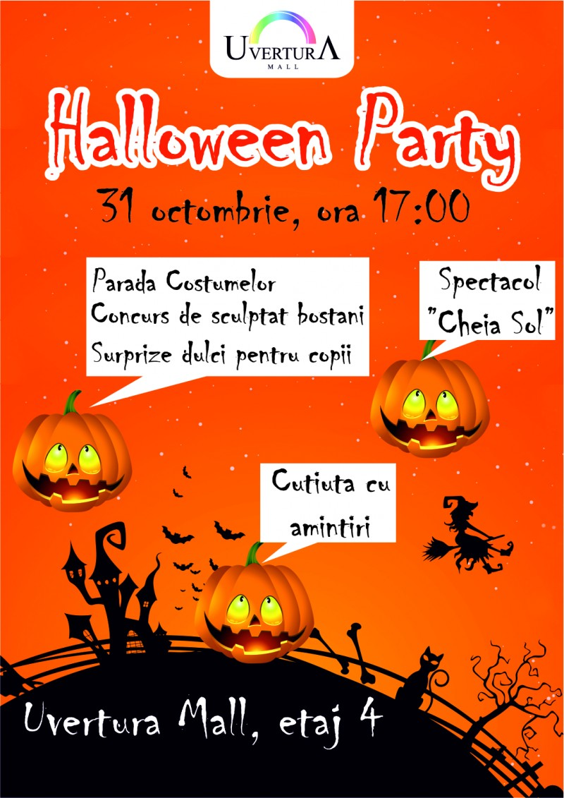 E Halloween Party la Uvertura Mall