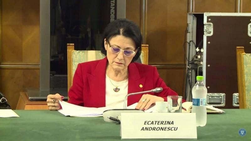 Ecaterina Andronescu: Simularea va fi organizată și pentru clasa a VII-a