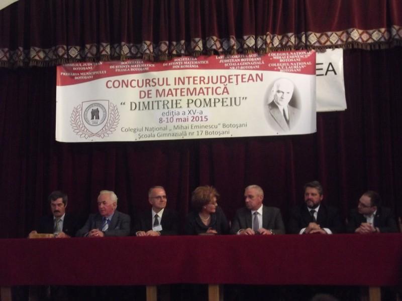 """Ediţia a XV-a a Concursului de Matematică """"Dimitrie Pompeiu"""": """"Oamenii mari nu sunt doar specialişti în domeniul lor. Oamenii mari au cultură"""""""