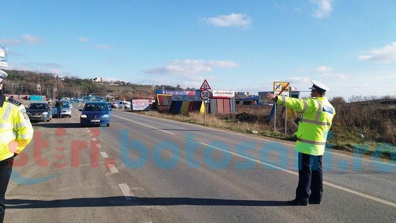 Efective sporite de poliţişti în acest weekend, la Botoşani