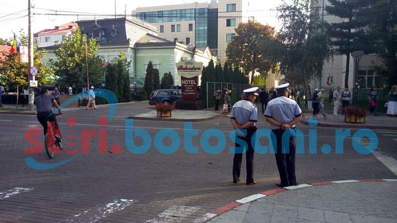Efective sporite de polițiști și jandarmi, la Botoșani, în prima zi de școală