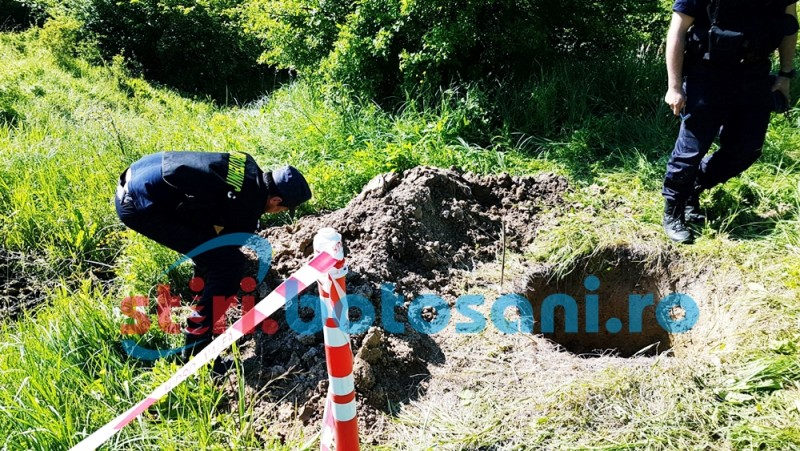 Elemente de muniţie de artilerie şi infanterie, rămase neexplodate, distruse la Copălău - FOTO