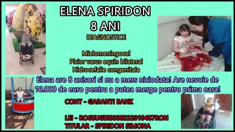 Elena vrea să meargă!