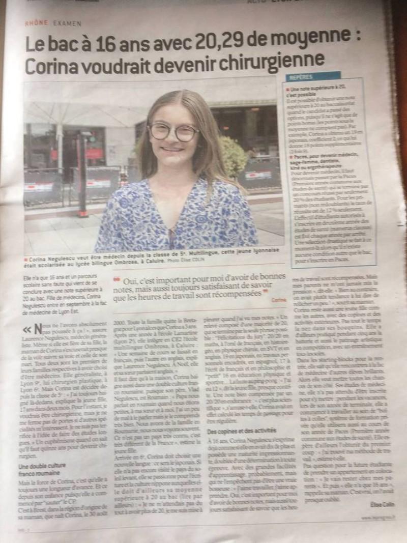 Eleva de 16 ani care a uimit Franța: A luat PESTE nota maximă la Bacalaureatul francez. Are 16 ani și este româncă!