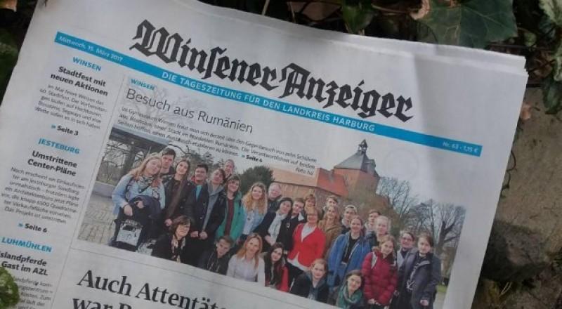 """Elevii Colegiului National """"Mihai Eminescu"""" Botosani, in presa din Germania - FOTO"""