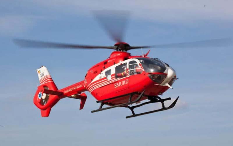Elicopter SMURD chemat urgent la Botoșani pentru o femeie de 82 de ani cu probleme cardiace