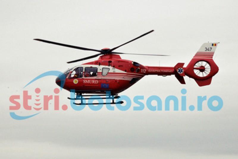 Elicopter SMURD solicitat în municipiul Botoșani, pentru un bărbat în stare gravă