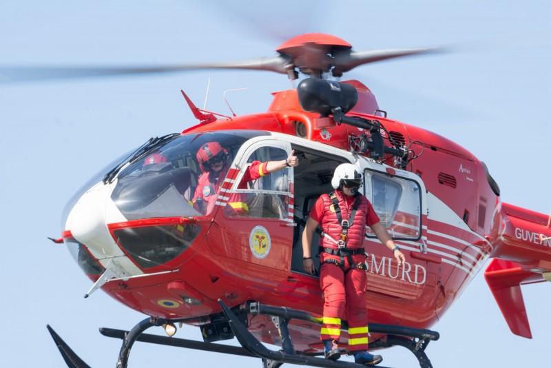 Elicopter SMURD solicitat pentru un bărbat care a suferit un infarct