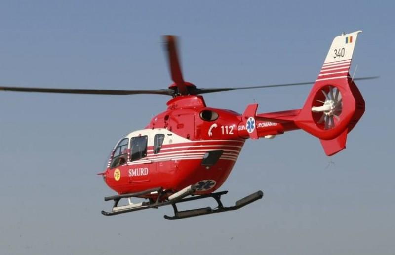 Elicopter SMURD solicitat pentru un bărbat de 45 de ani în stare critică
