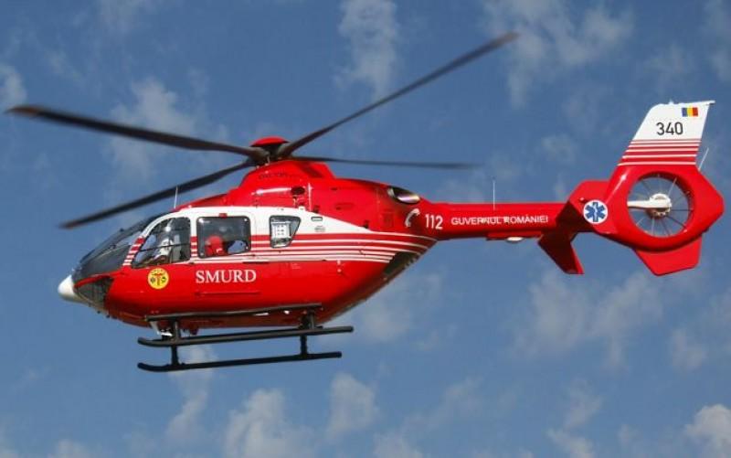 Elicopterul SMURD chemat la Dorohoi după ce un bărbat a făcut un infarct
