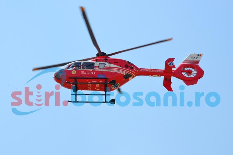 Elicopterul SMURD chemat la Dorohoi, pentru o pacientă în stare gravă!