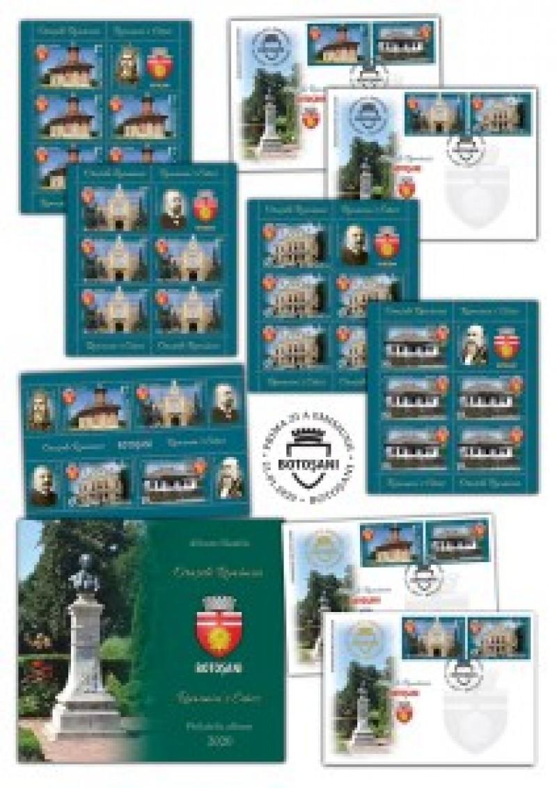 Emisiune de mărci poștale dedicată municipiului Botoșani