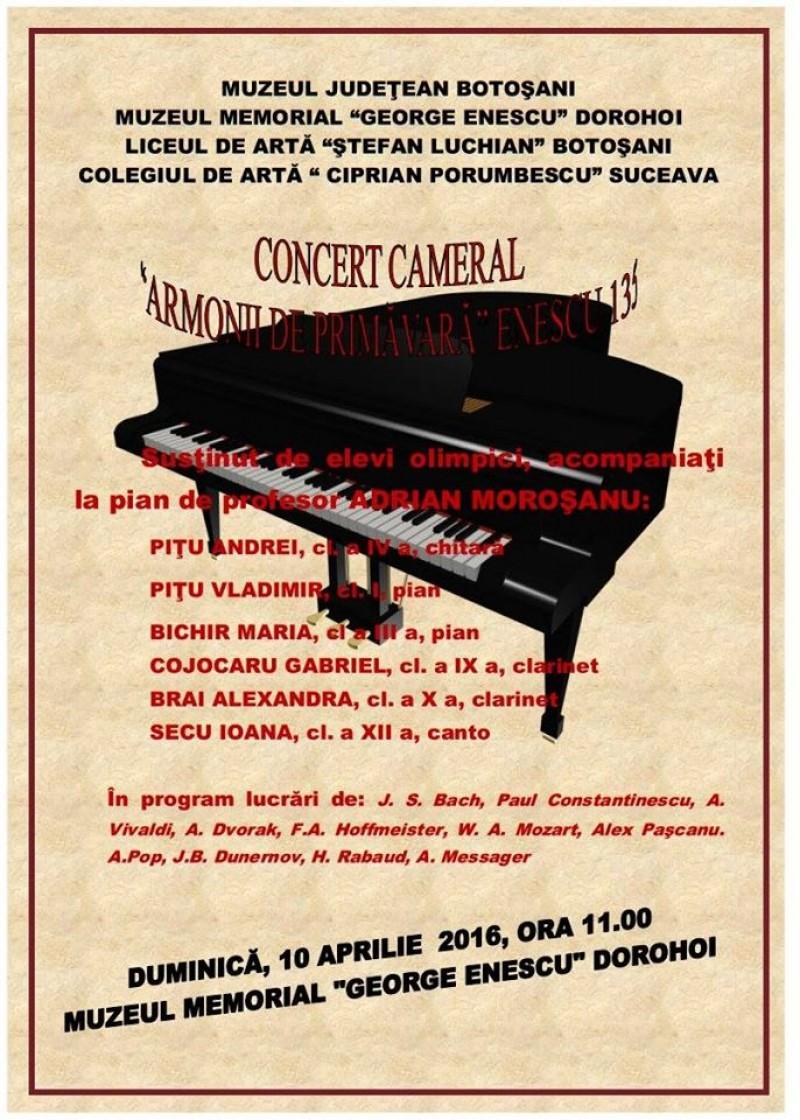 ENESCU 135: Armonii de primăvară la Dorohoi!