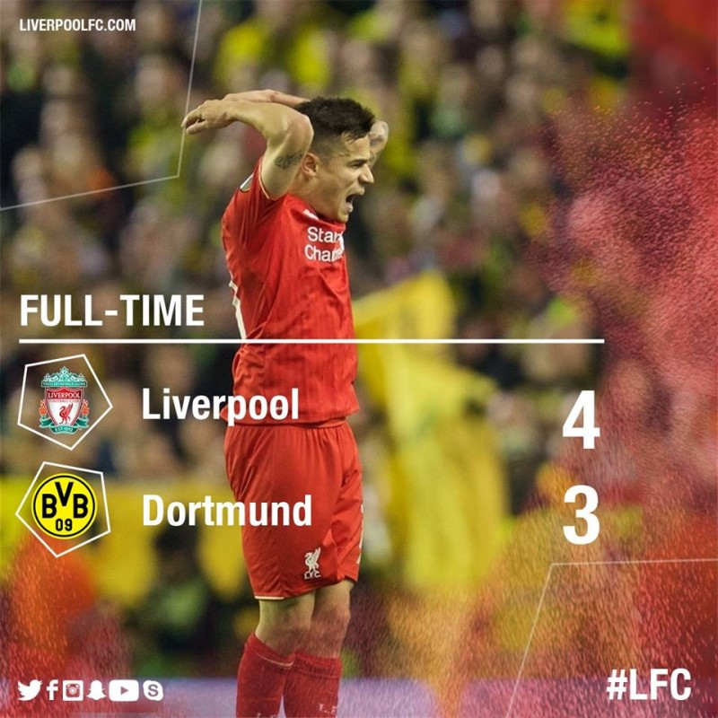 EUROPA LEAGUE: Meci de infarct la Liverpool! Echipa lui Klopp a intors scorul de la 1-3 la 4-3! VIDEO