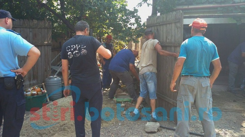 Executare silită cu scandal la poartă! FOTO- VIDEO