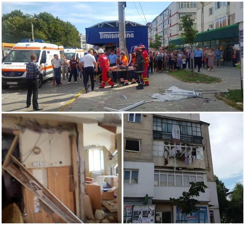 EXPLOZIE puternică în Primăverii. Cinci victime, 21 de oameni evacuați, blocul este fisurat! FOTO- VIDEO