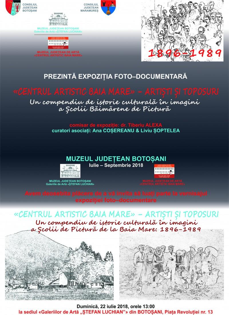 """Expoziția foto-documentară Centrul Artistic Baia Mare - Artiști și toposuri, la Galeriile de Artă """"Ştefan Luchian"""" Botoşani"""