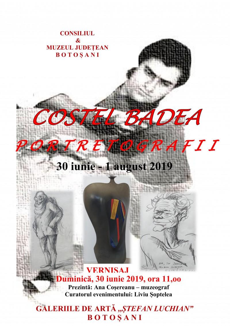 """Expoziția """"Costel Badea - Portretografii"""", la Galeriile de Artă """"Ștefan Luchian"""" Botoșani!"""