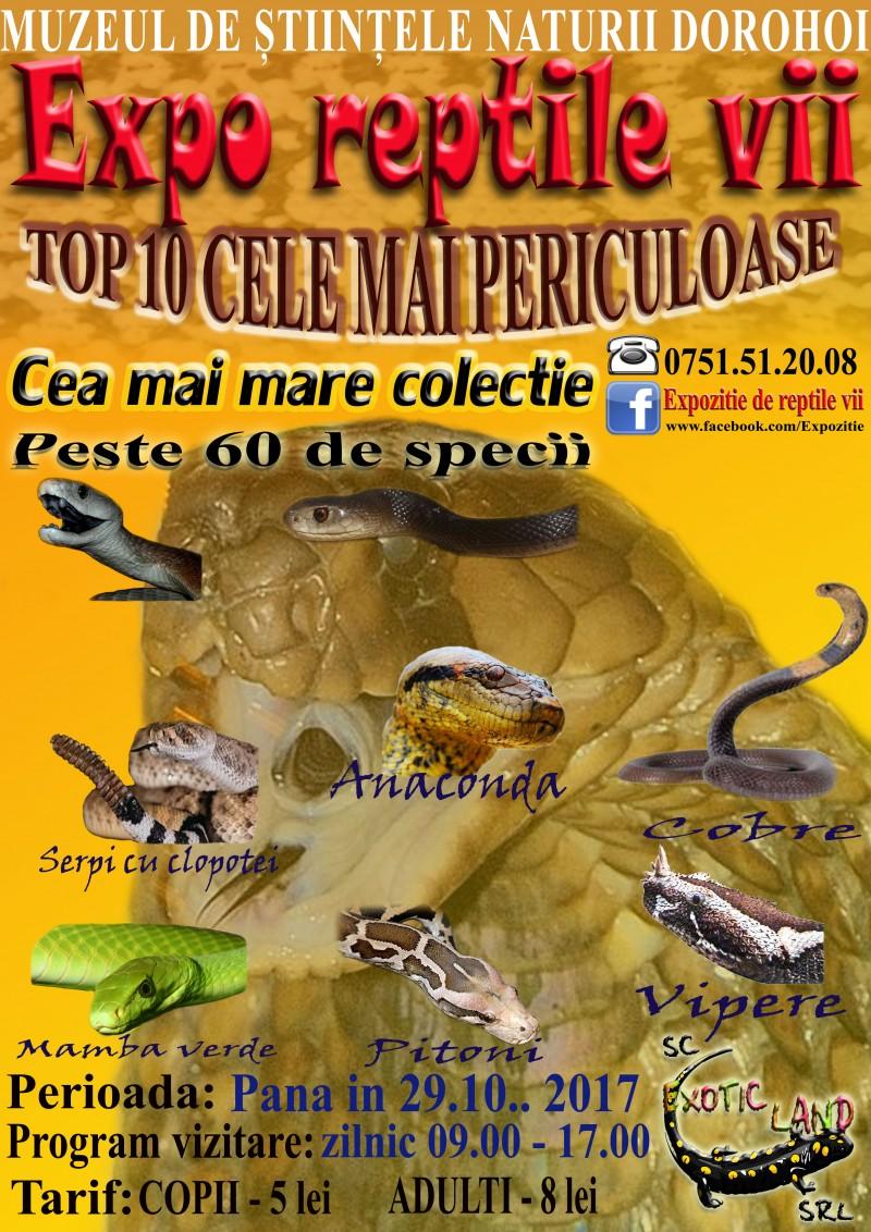 """Expoziţia """"Reptile vii"""", la Muzeul de Ştiinţe ale Naturii Dorohoi!"""