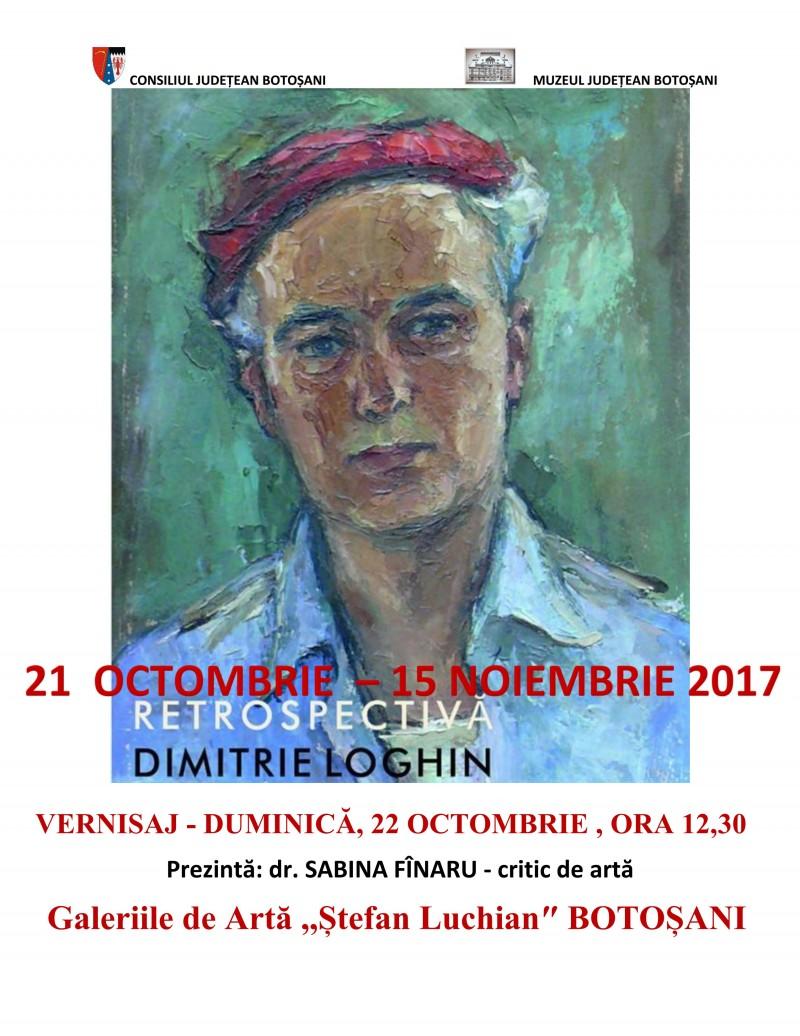"""Expoziţia retrospectivă """"Dimitrie Loghin (1910 – 1982)"""", la Galeriile de Artă """"Ştefan Luchian"""" Botoşani!"""