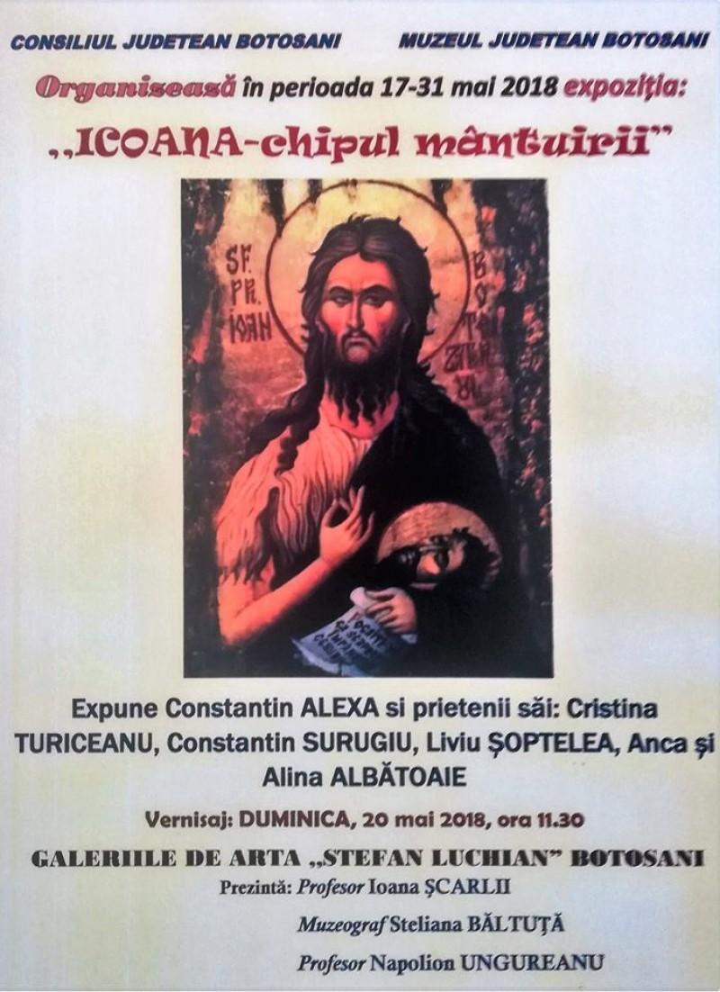 """Expoziţia temporară """"Icoana-chipul mântuirii"""", la Galeriile de Artă """"Ştefan Luchian"""" Botoşani"""