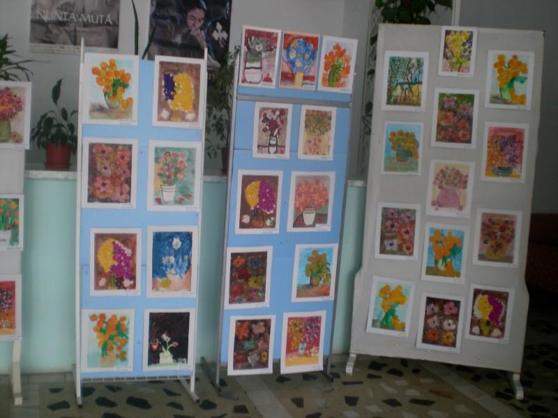 Expoziţie de artă plastică, organizată de Grădiniţă 22 Botoşani