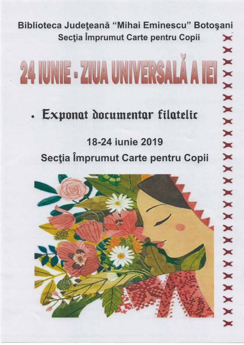 Expoziţie dedicată iei, la Biblioteca Judeţeană