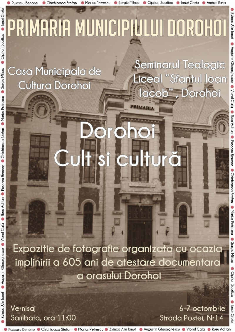 Expoziție fotografică cu ocazia Zilelor municipiului Dorohoi