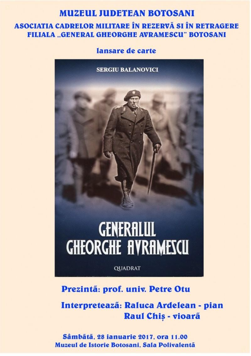 Expoziție și lansare de carte în memoria Generalului Gheorghe Avramescu!