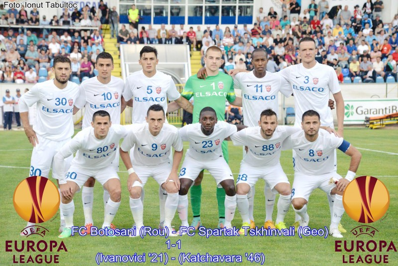 FAZA serii in Europa League! Un fotbalist de la Botosani a jucat cu doua numere diferite pe tricou! FOTO