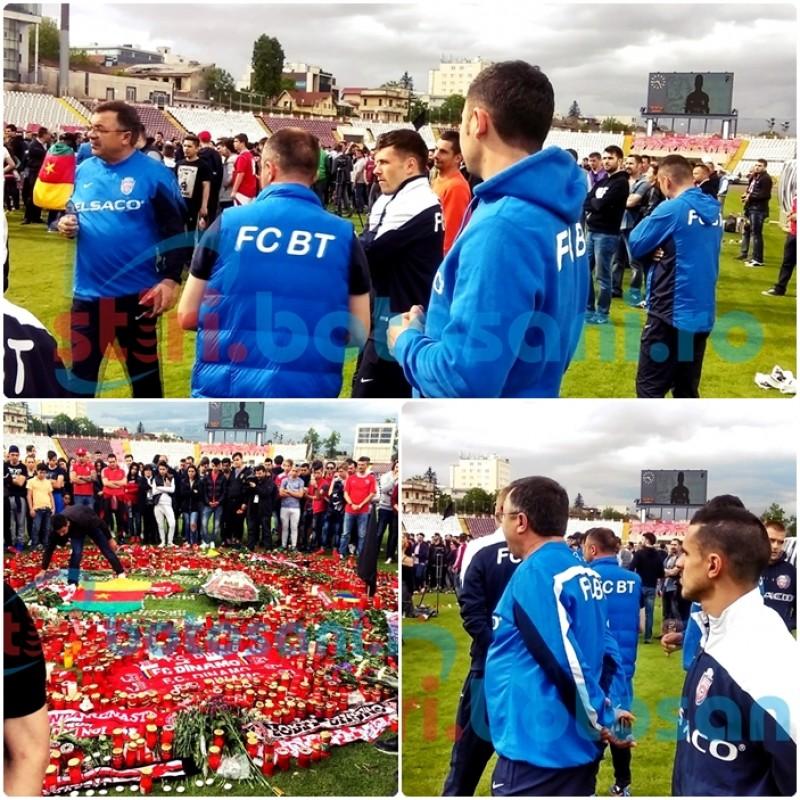 FC Botosani a adus un ultim omagiu fotbalistului Patrick Ekeng! FOTO