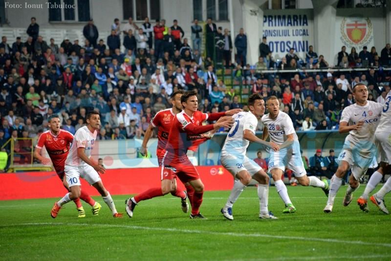 FC Botosani a incasat cele mai multe goluri la jumatatea primei reprize!