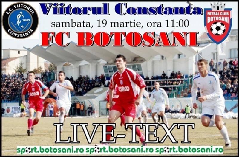 FC Botosani a pierdut meciul cu Viitorul, scor 2-0. Vezi desfasurarea partidei!