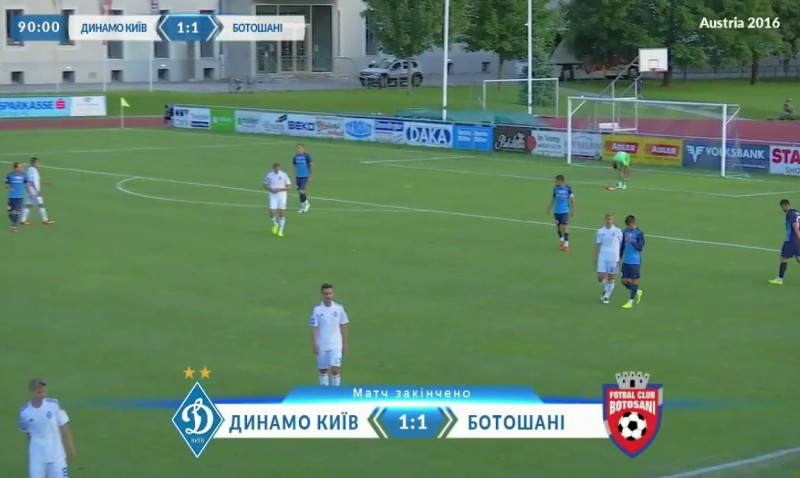 FC Botosani a remizat cu campioana Ucrainei, Dinamo Kiev, scor 1-1. VIDEO LIVE