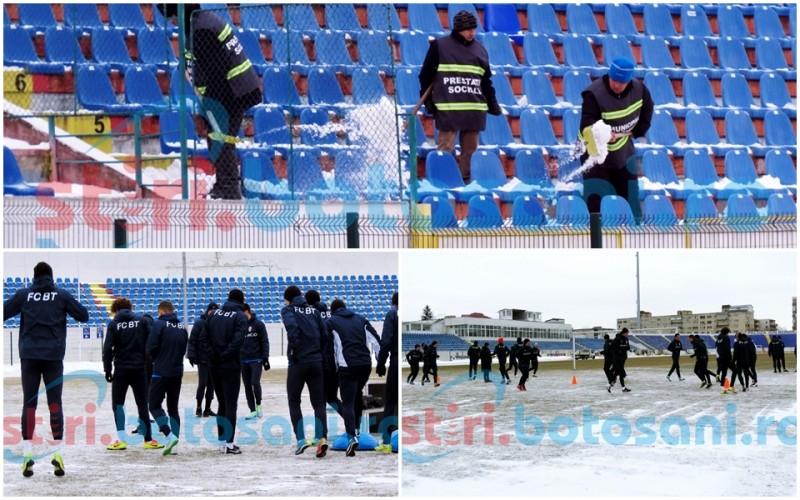 FC Botoșani a revenit la zăpada de acasă! Instalația de încalzire a gazonului va fi pornită! FOTO, VIDEO